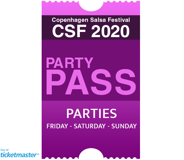 Party passs ticket copenhagen salsa festival 2018